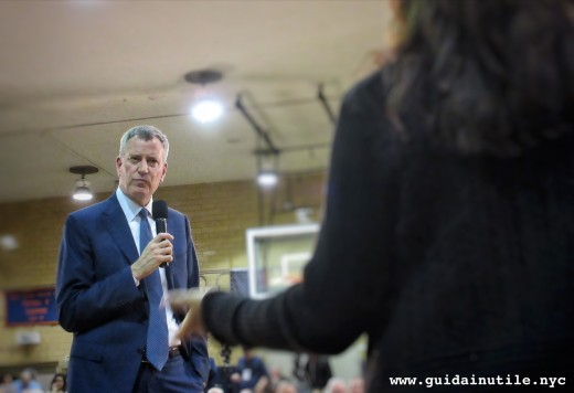 Bill De Blasio, Assemblea Pubblica, Bay Ridge, Brooklyn