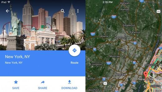New York, Las Vegas, Google Maps