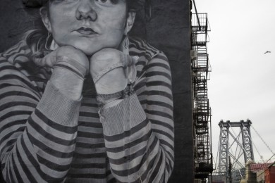 New York, Brooklyn, Williamsburg, graffiti, bridge