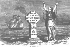 Carestia, Immigrazione, Irlanda, 1845-1852