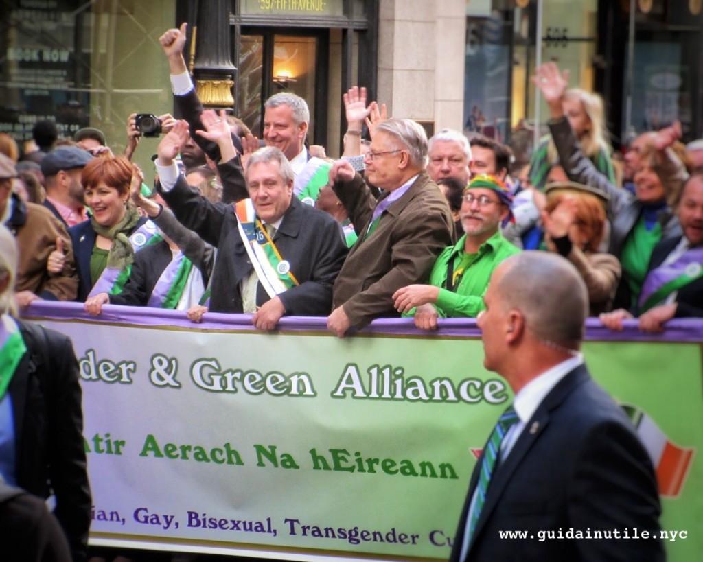 St. Patrick's Day, Bill De Blasio, Lavender & Green Alliance, LGBT, Gay, Lesbian, Transgender