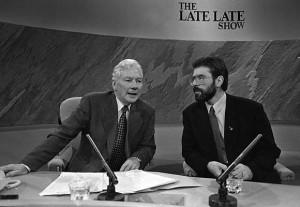 Gerry Adams, Gay Byrne, Sinn Fein, The Late Late Show