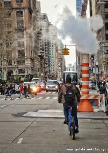 Steam system, steam power, orange and white stack, Con Edison, New York City, New York, Energy, Manhattan, Midtown