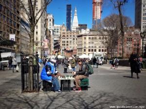 Union Square, scacchi, chess players, New York City, New York, Manhattan