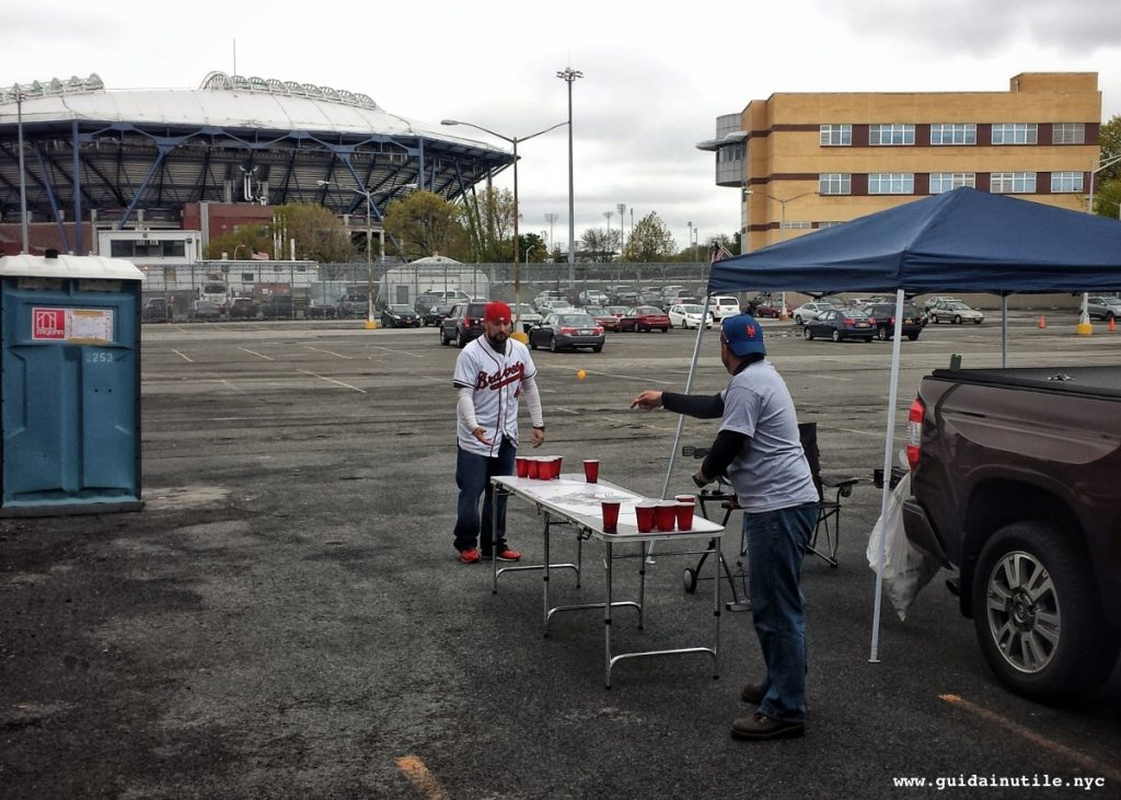 Mets, beer pong, tailgate, Queens, Citi Field, New York Mets fans, New York Mets, New York, baseball