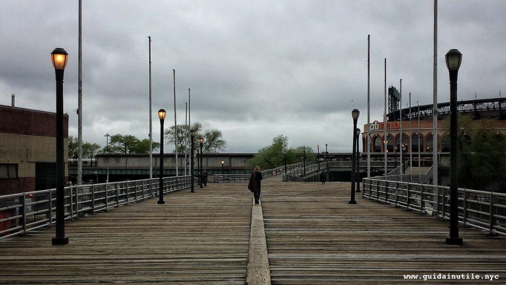 Flushing Meadows pedestrian bridge, Queens, New York
