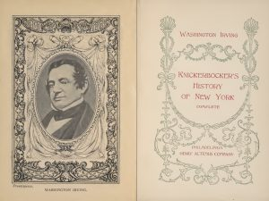 Washington Irving, Knickerbocker's History of New York
