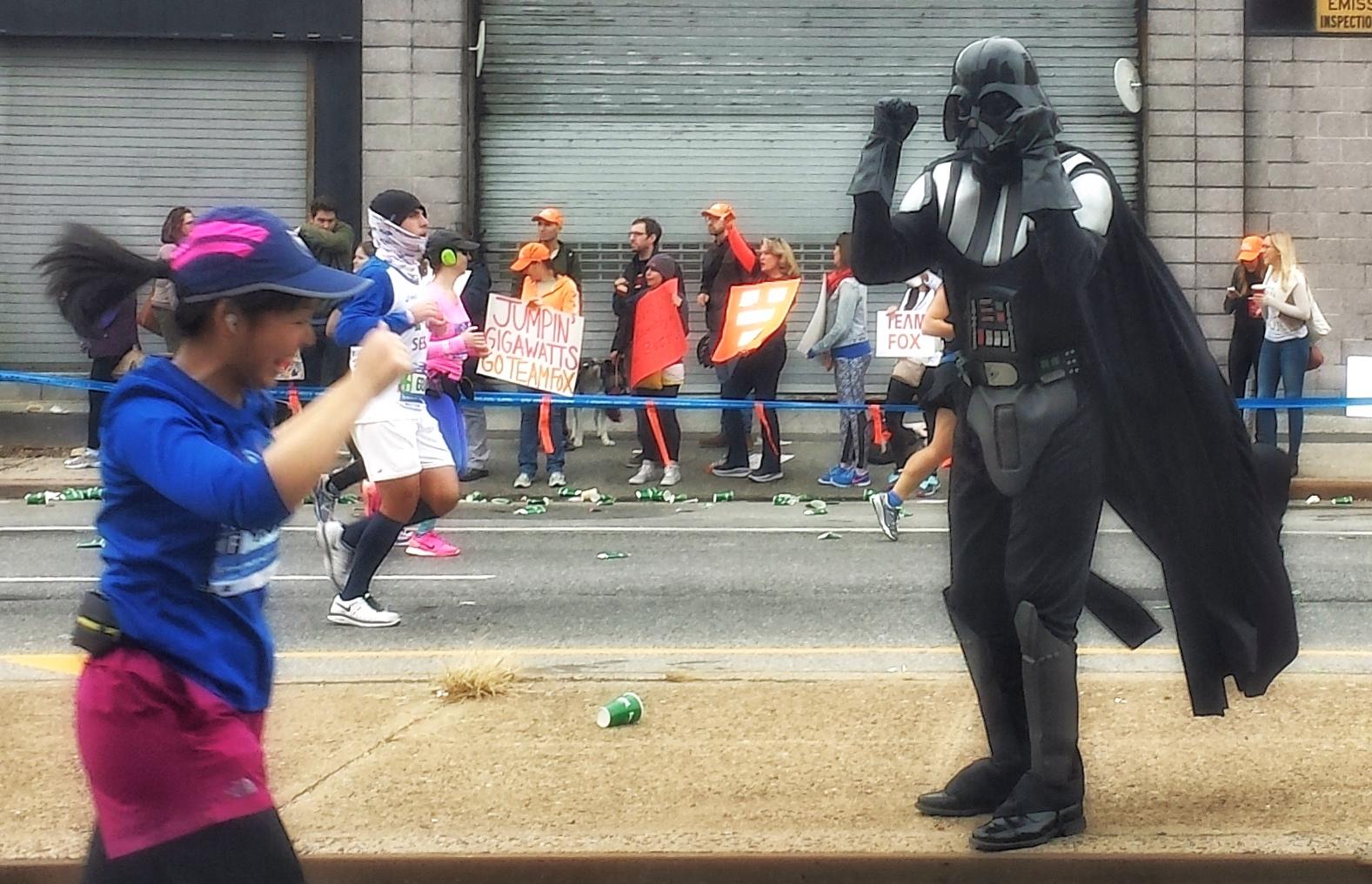 Darth Vader, New York Marathon, Brooklyn