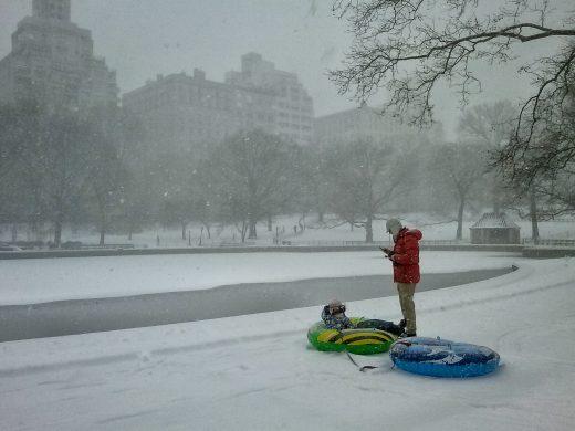 Central Park, neve, New York