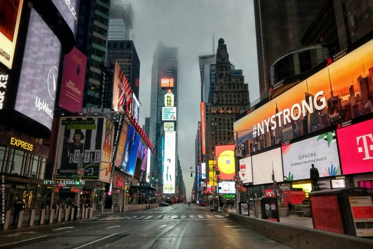 Times Square in time of coronavirus