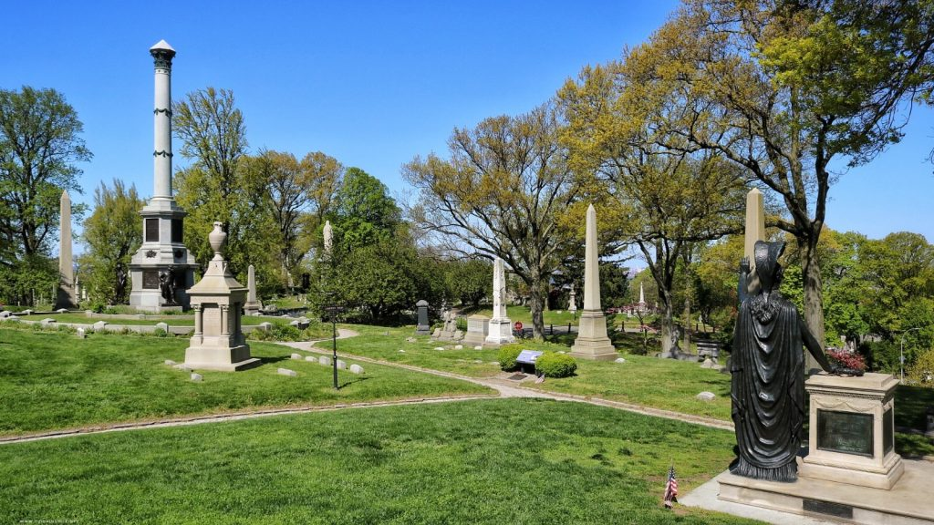 Battle Hill, Green-Wood Cemetery, Cimitero di Green-Wood, Brooklyn