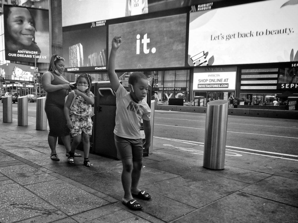 Times Square, pochi turisti in città nell'estate del Covid