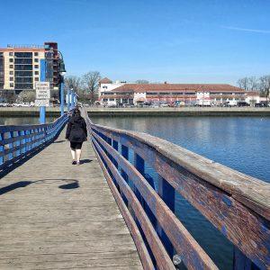 Sheepshead Bay, the pedestrian bridge