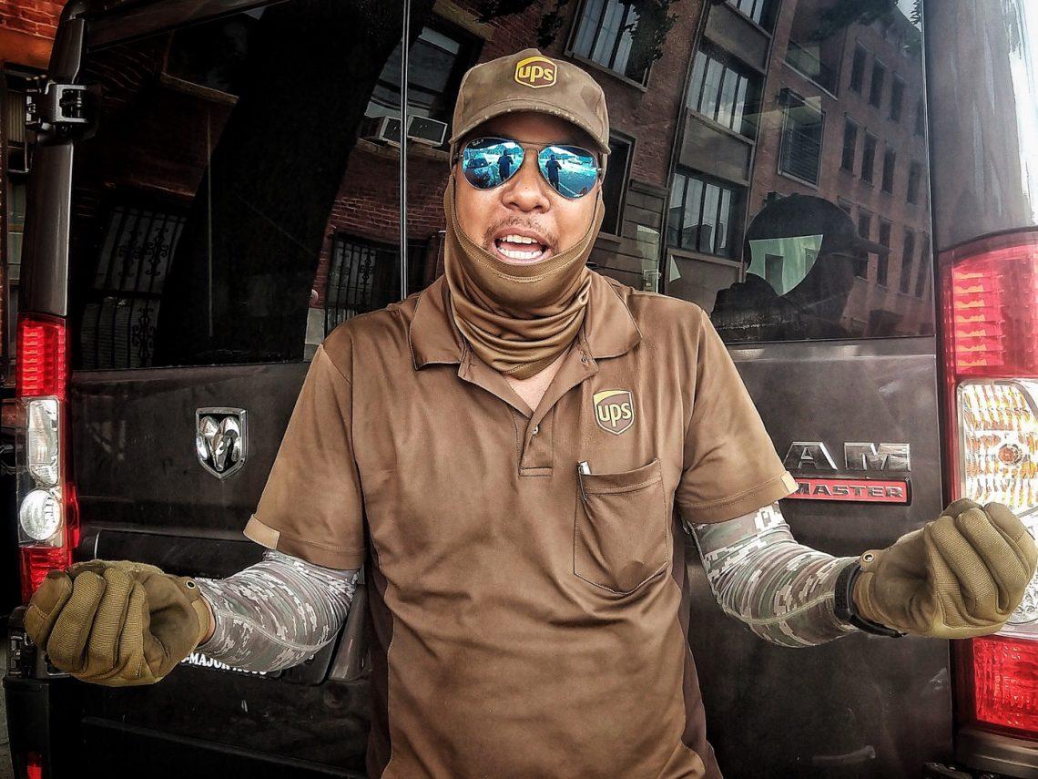 "Elvin ""The UPS Guy"" in Gowanus, Brooklyn"