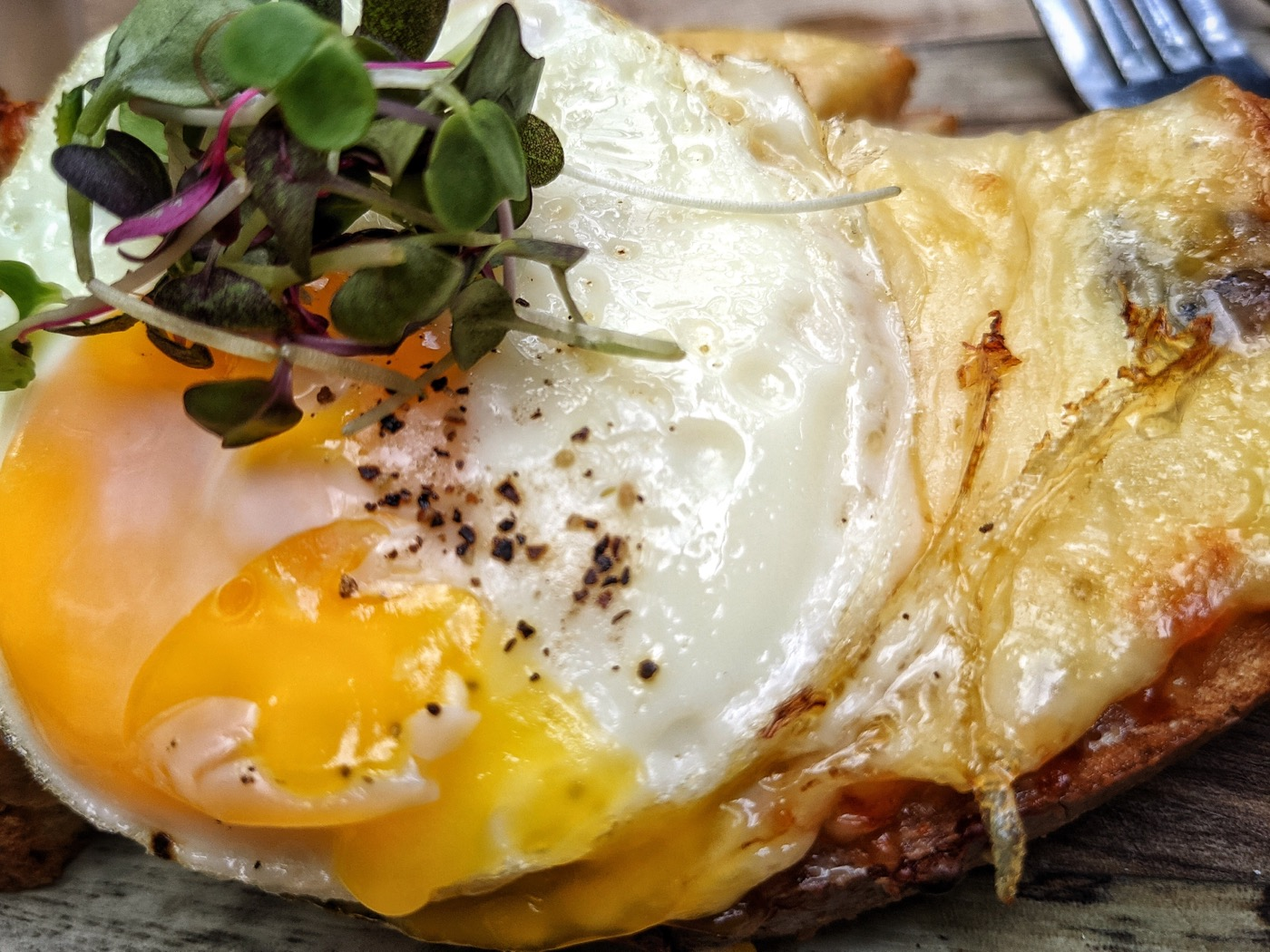 """Cosa mangiare a New York, il croque monsieur di """"Maman"""" a Tribeca (211 West Broadway)"""