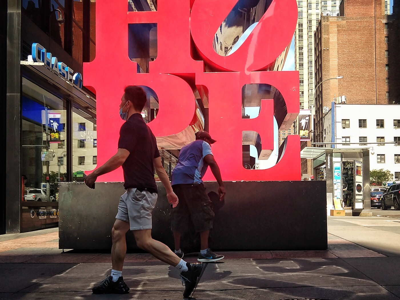New York, Midtown Manhattan, 7th Avenue and 53rd Street, Robert Indiana Hope Sculpture