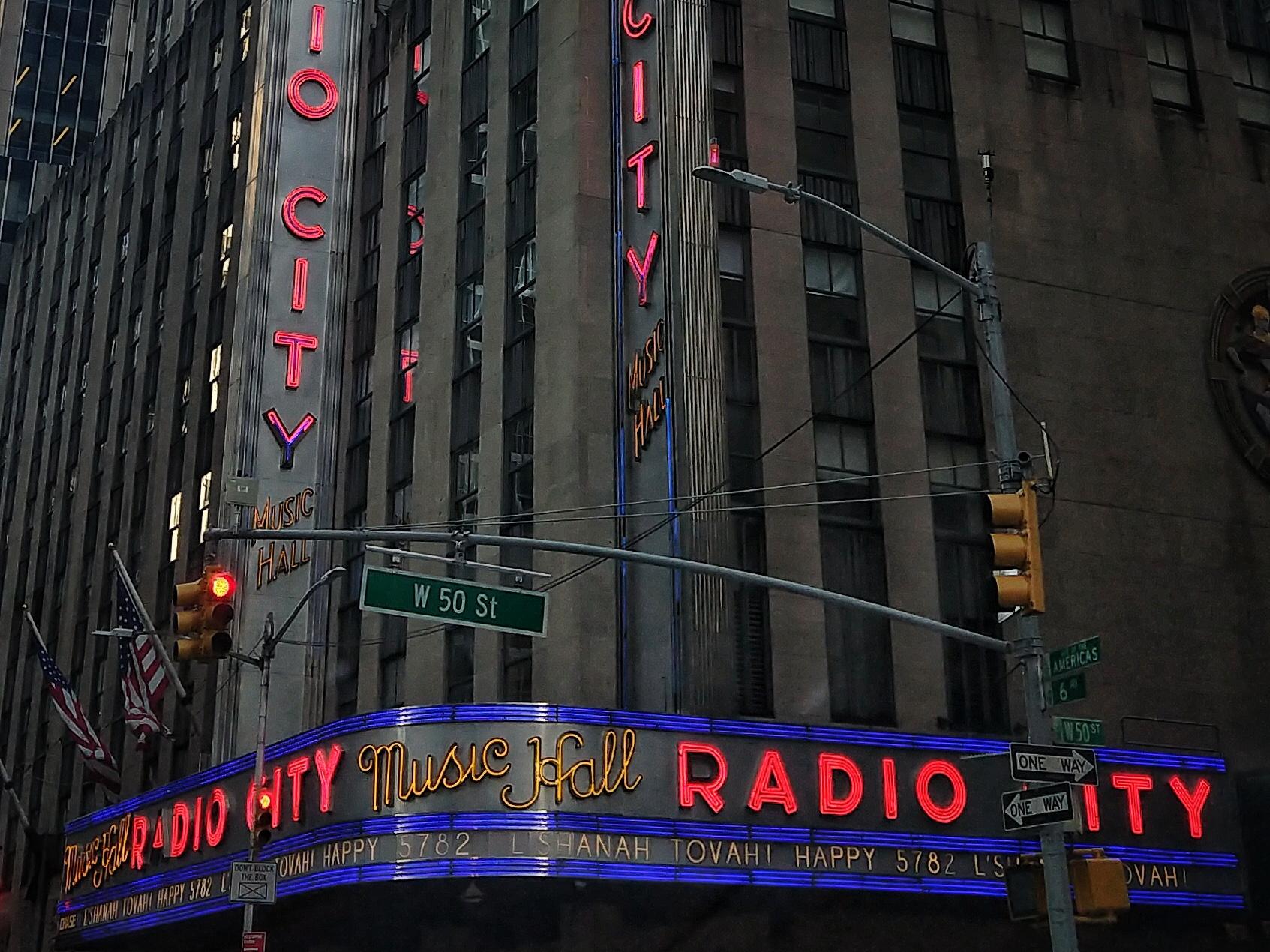 New York, Radio City Music Hall, Rosh Hashanah 2021, Happy 5782, L'Shanah Tovah