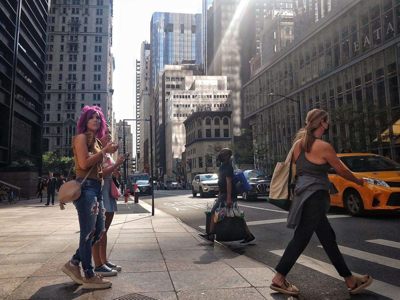 New York, Financial District, Church Street and Liberty Street