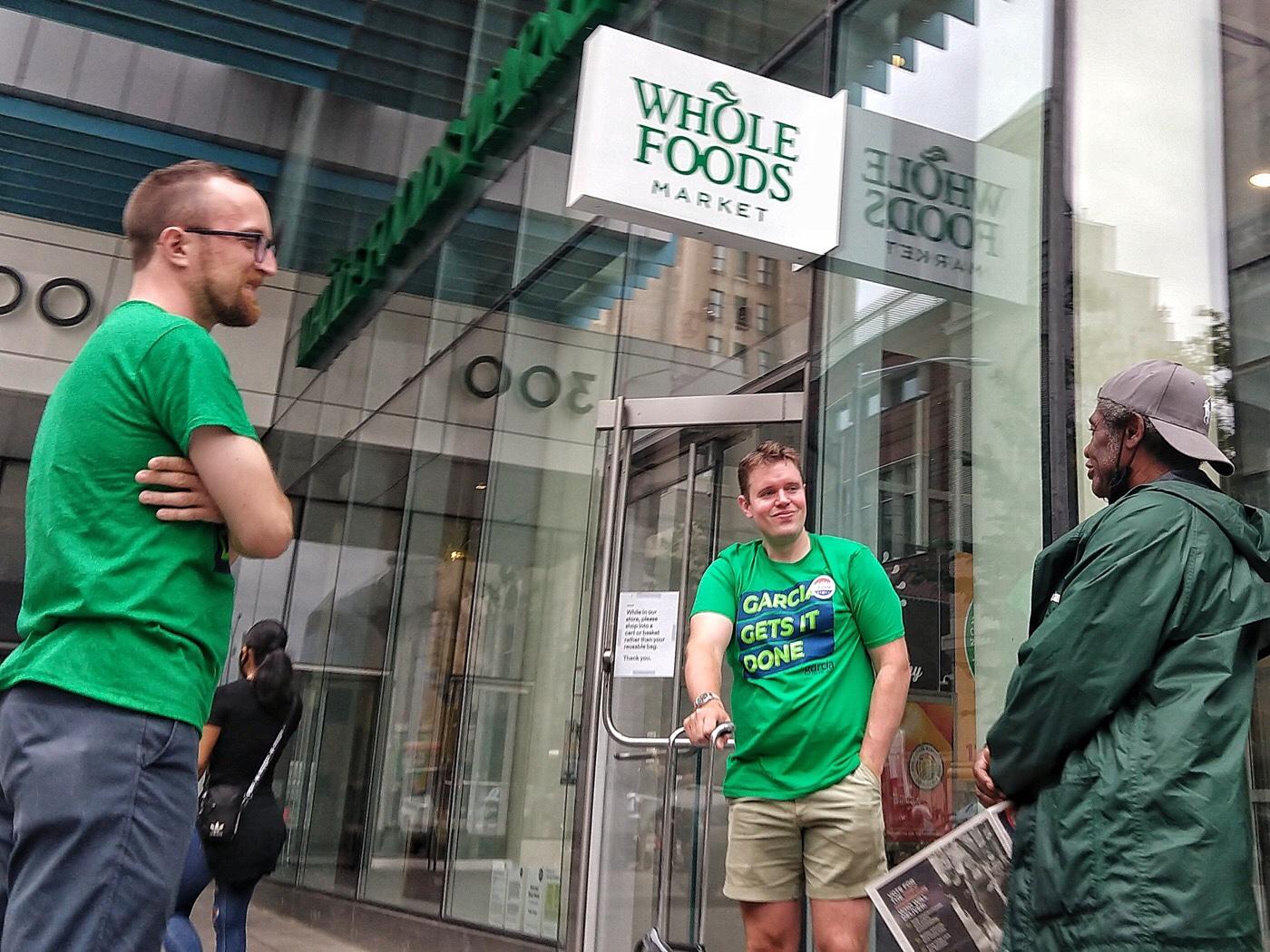 New York, Brooklyn, Whole Foods, Katrhyn Garcia electoral campaign