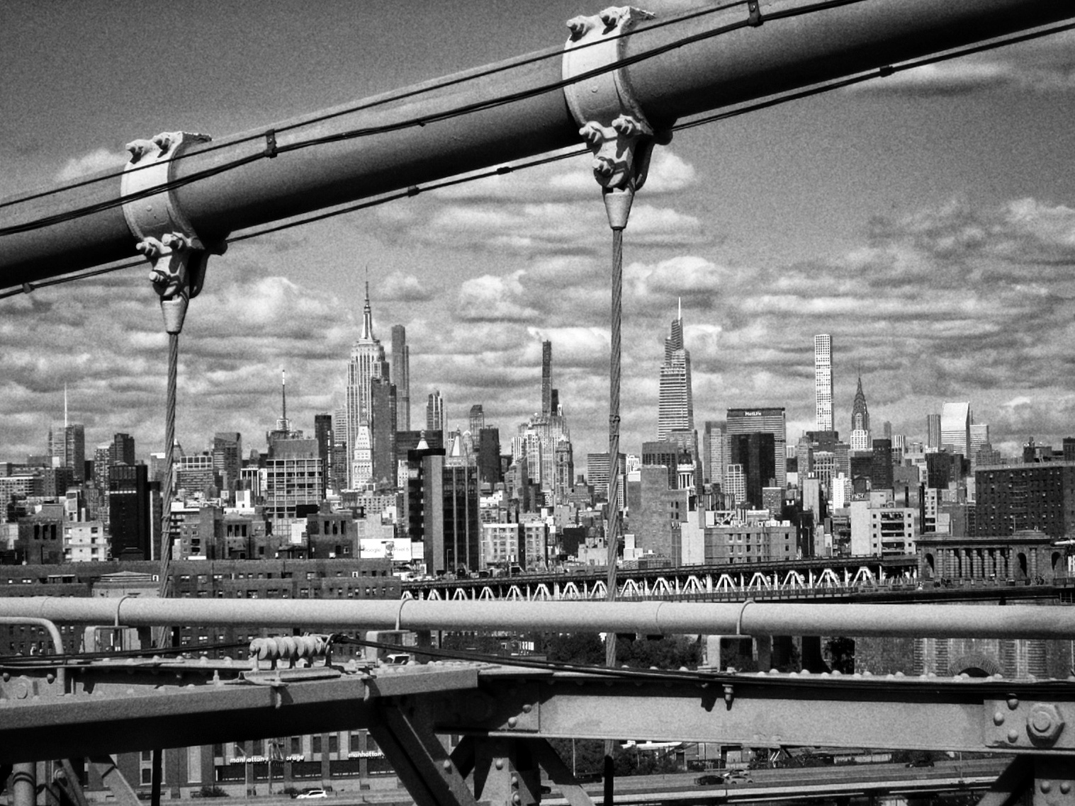 Guida di New York, Panorama di Manhattan visto dal Ponte di Brooklyn